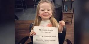 Le don de cette petite fille de 3 ans a ému la toile