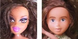 """Elle relooke les poupées Bratz pour en faire des """"filles normales"""""""