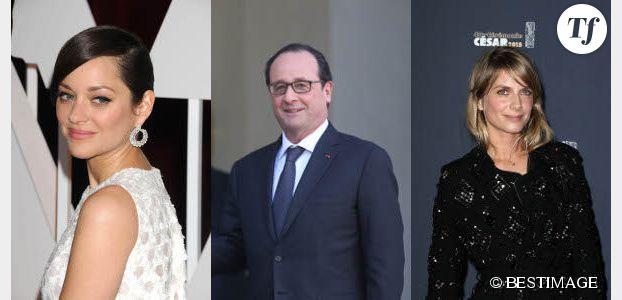 François Hollande : un voyage en compagnie de Marion Cotillard et Mélanie Laurent