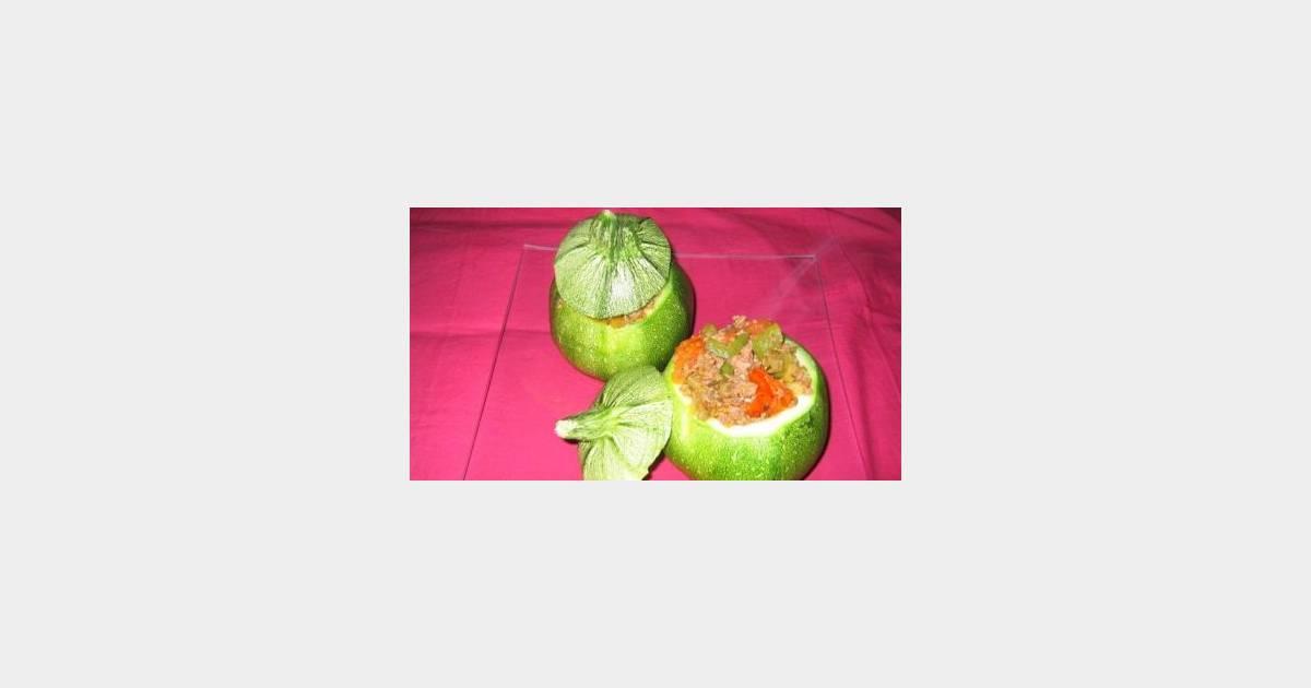 Recette concours les courgettes rondes farcies terrafemina - Comment cuisiner les courgettes rondes ...