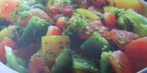 Recette concours : Salade de poivrons aux tomates