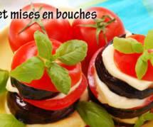 Verrine de concombre/tomate et son accompagnement
