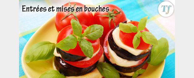 verrine de concombre  tomate et son accompagnement