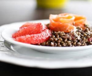 Une bonne salade de lentilles désaltérante