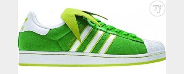 Des baskets Adidas aux couleurs de Kermit la Grenouille