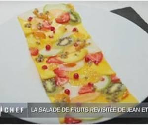 Recette Top Chef 2012 : Le  carpaccio de salade de fruits de Jean Imbert