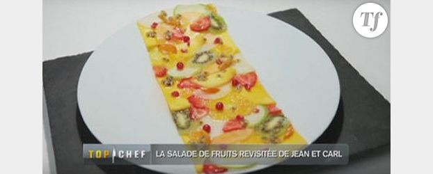 Recette Top Chef 2012 : Le  carpaccio de salade de fruits de Jean Imbert
