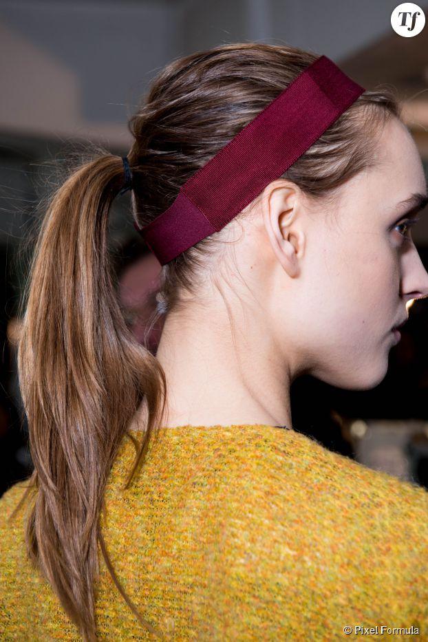 Coiffure : la queue de cheval crêpée pour les cheveux fins.