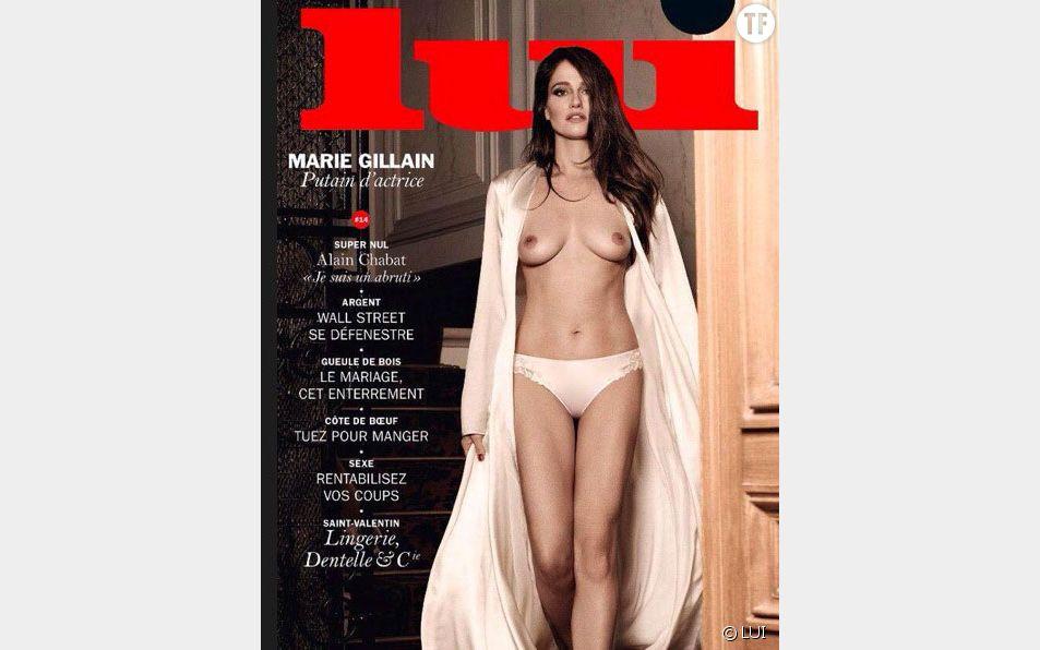 """Marie Gillain nue en couverture de """"Lui""""."""