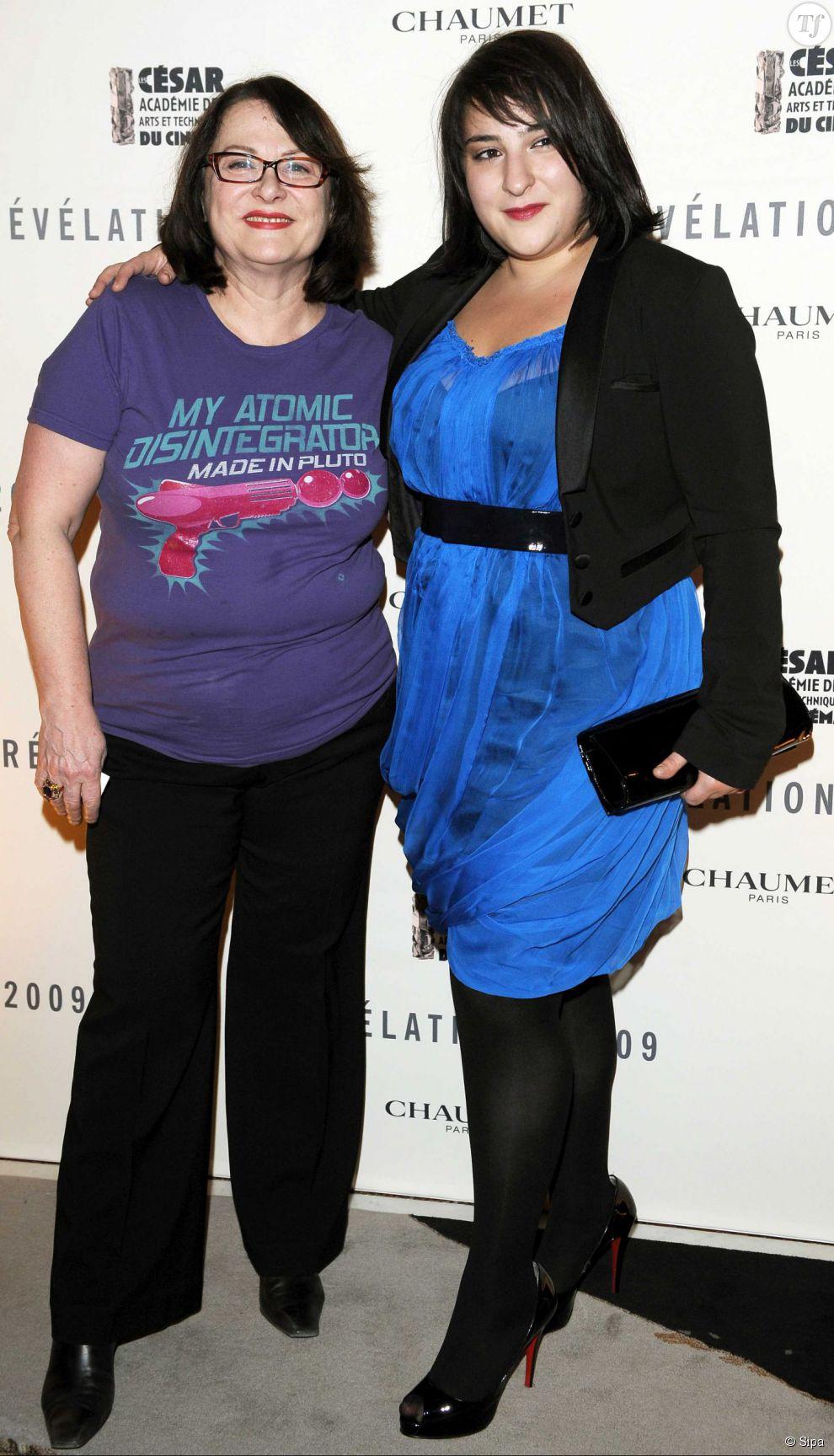 Josiane Balasko et sa fille à la soirée des révélations des César en 2009