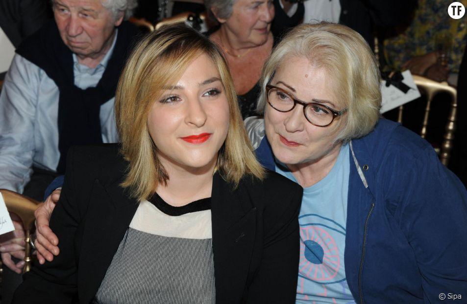 Josiane Balasko et sa fille Marilou Berry au défilé Jean-Paul Gaultier en 2013