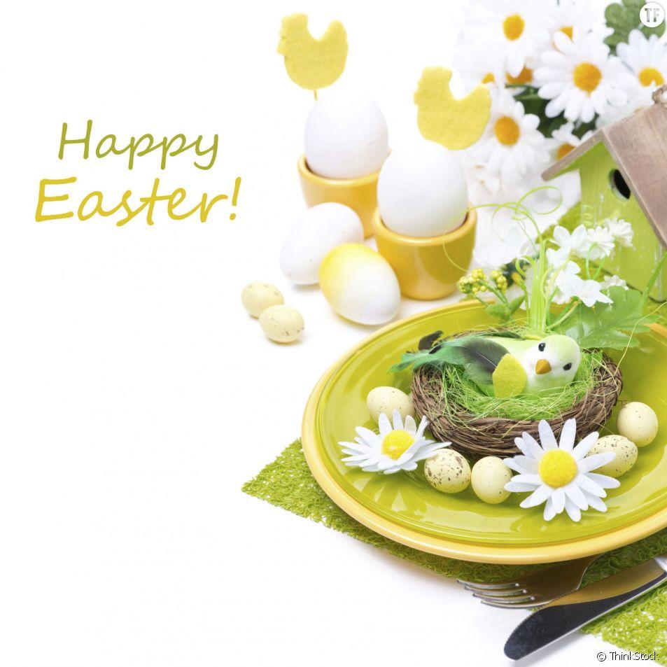 Une belle idée de décoration de table pour Pâques