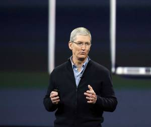 Tim Cook, CEO d'Apple, en mars 2015