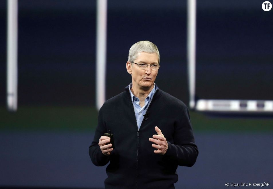 Tim Cook, CEO d'Apple, en mars 2015