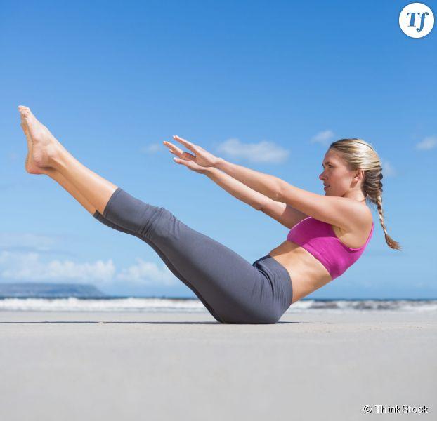 posture yoga le bateau