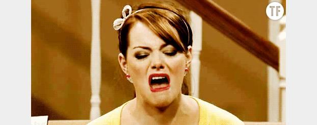 L'actrice Emma Stone mimant parfaitement le dégoût.