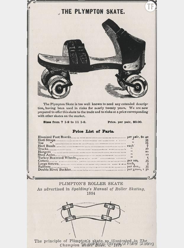 Les premiers patins inventés par James Plimpton en 1884.