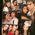 Kayla Ewell, Sara Canning, Ian Somerhalder et Nina Dobrev sur le tournage de Vampire Diaries