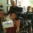 Photo de tournage de la saison 3 de Vampire Diaries