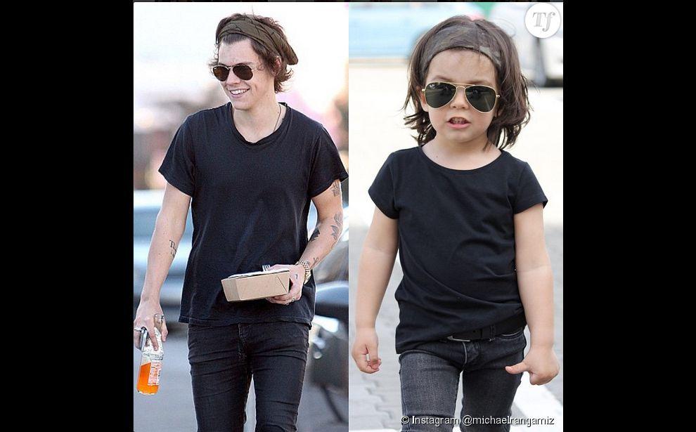Michael Rangamiz, sosie de Harry Styles à 2 ans.