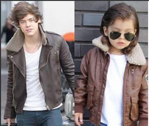 Les poses du petit garçon sont étudiées pour coller au plus près de Harry Styles.