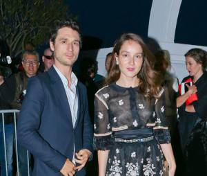 Jérémie Elkaïm et Anaïs Demoustier à la soirée Chanel Vanity Fair pendant le festival de Cannes. Le 20 mai 2015.