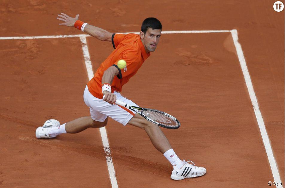 Le numéro mondial Novak Djokovic à Roland Garros