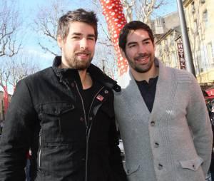 Nicola et Luka Karabatic à Aix-en-Provence le 2 février 2013.