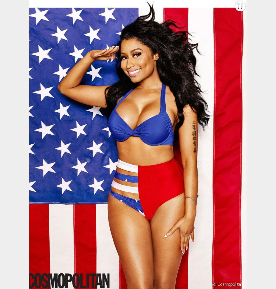 Nicki Minaj en maillot Allusions by A. Lekay