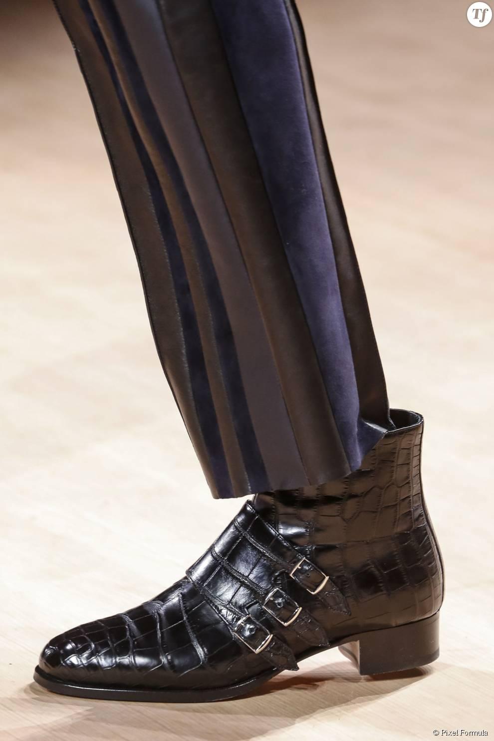 Défilé prêt-à-porter automne-hiver 2015-2016 : boots Hermès.