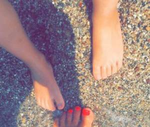 Amélie Neten en vacances à la mer avec son fils Hugo