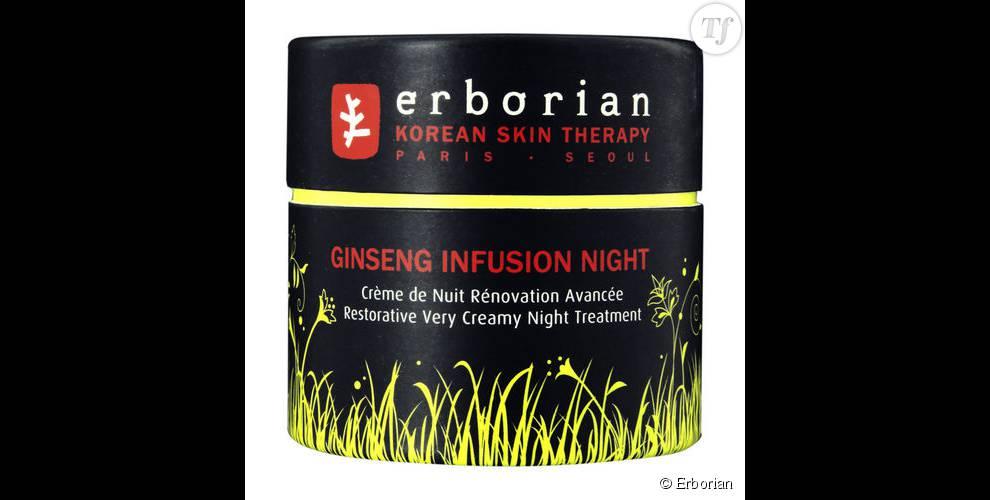 Crème visage anti-fatigue Ginseng Infusion Nuit , Erborian (42 euros)