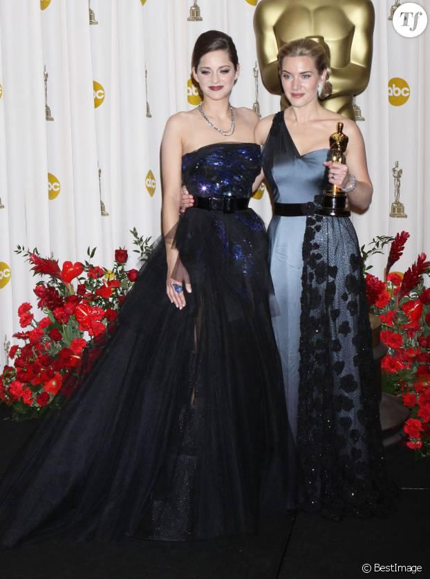 Marion Cotillard et Kate Winslet à la 81e cérémonie des Oscar