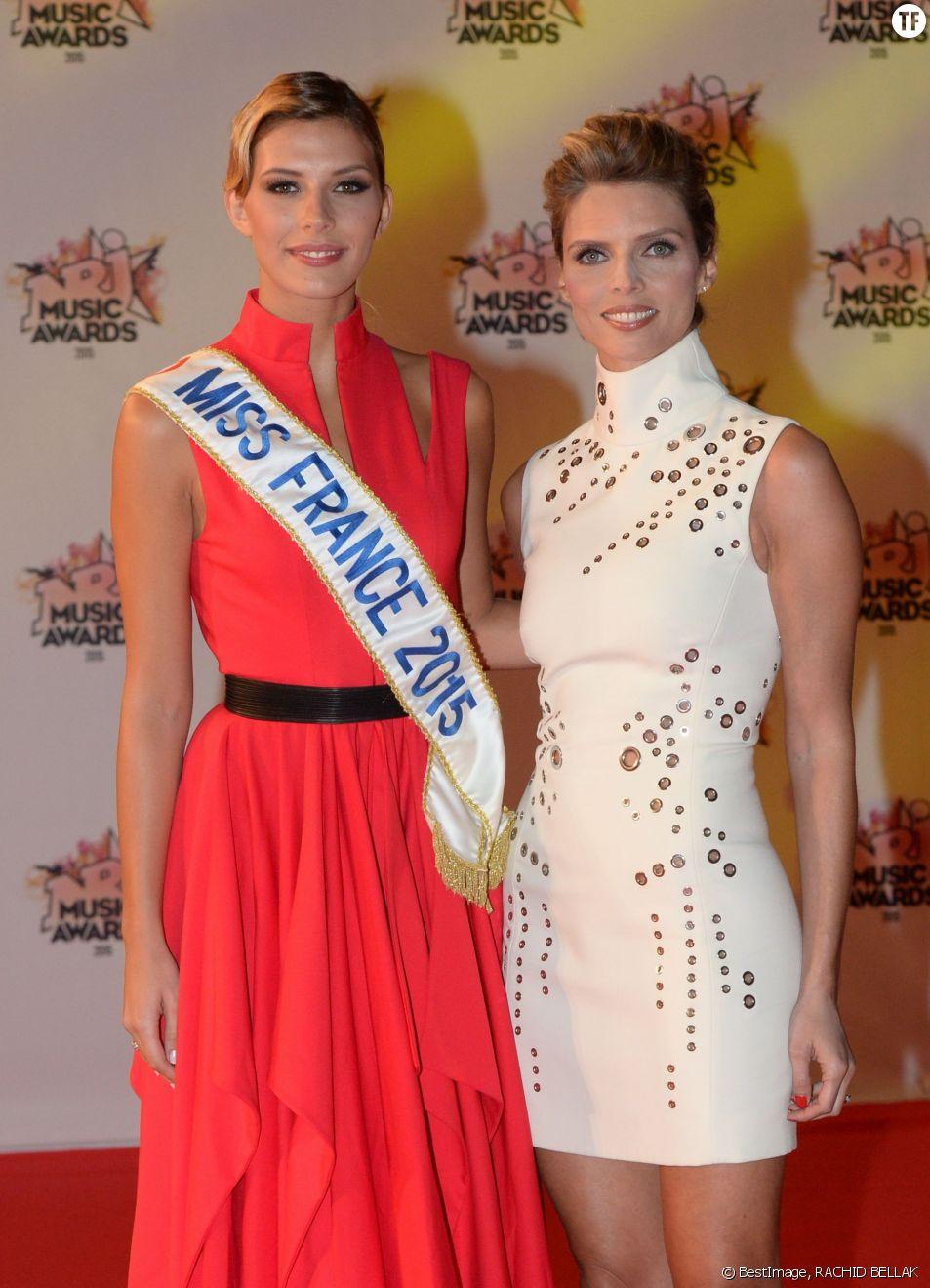 Camille Cerf (Miss France 2015) et Sylvie Tellier