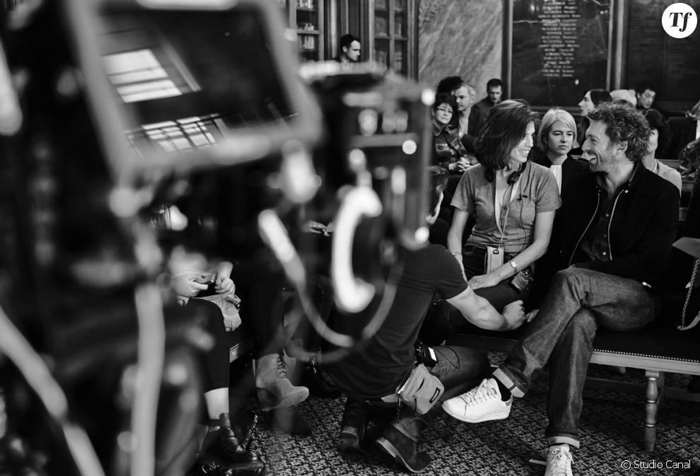 """La réalisatrice et actrice Maïwenn avec Vincent Cassel sur le tournage du film """"Mon Roi"""""""
