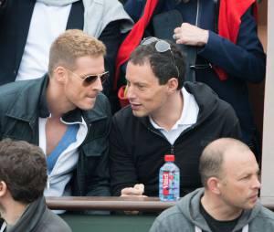 Matthieu Delormeau et Marc-Olivier Fogiel à Roland-Garros en juin 2013
