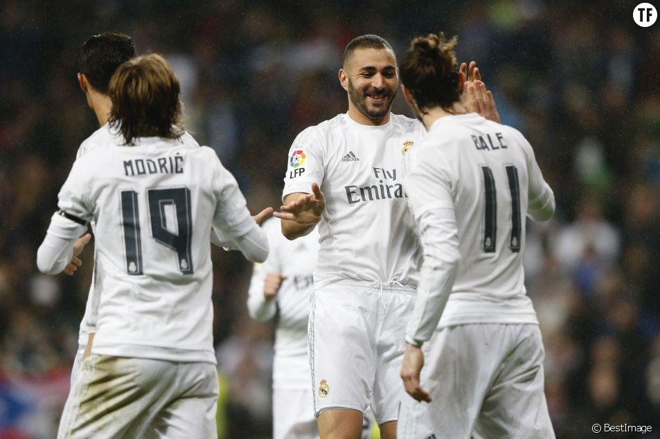 Karim Benzema et ses coéquipiers du Real Madrid