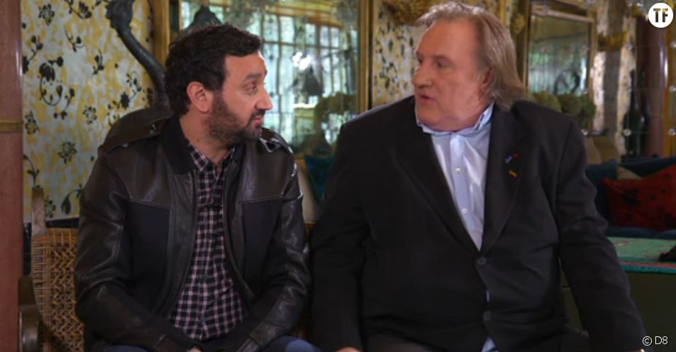 Gérard Depardieu et Cyril Hanouna dans TPMP