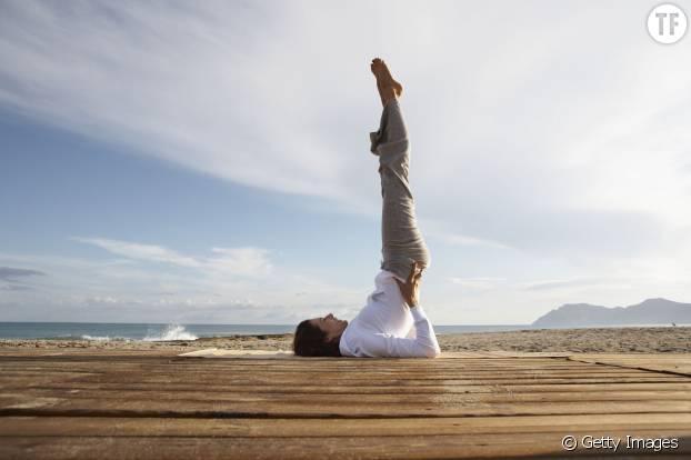 Yoga - Posture de la chandelle