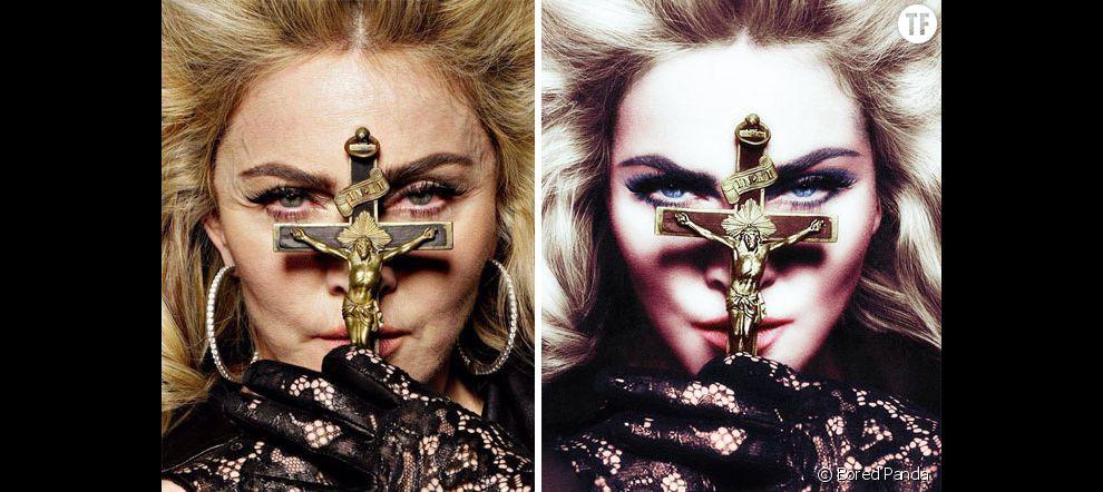 Les stars et Photoshop : toutes les photos de Madonna sont systématiquement retouchées pour la rajeunir