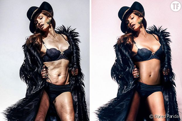 Photoshop de stars : Cindy Crawford méconnaissable