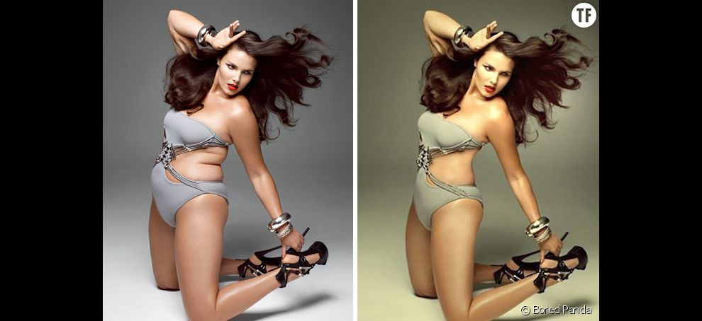 Candice Huffine et Photoshop : des retouches sur ses rondeurs