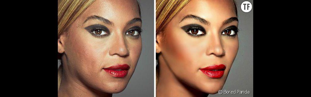 Photoshop : le visage de Beyoncé lissé et affiné sur Photoshop