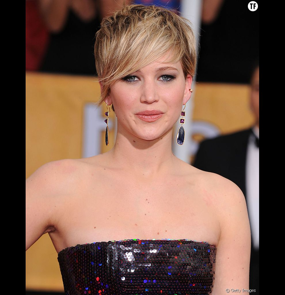 La coupe courte de Jennifer Lawrence.
