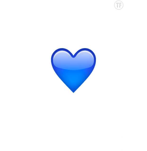 Emoji : coeur bleu
