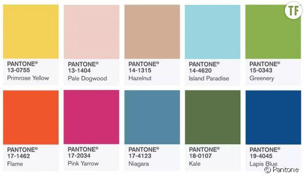 Pantone : les 10 couleurs de l'année 2017