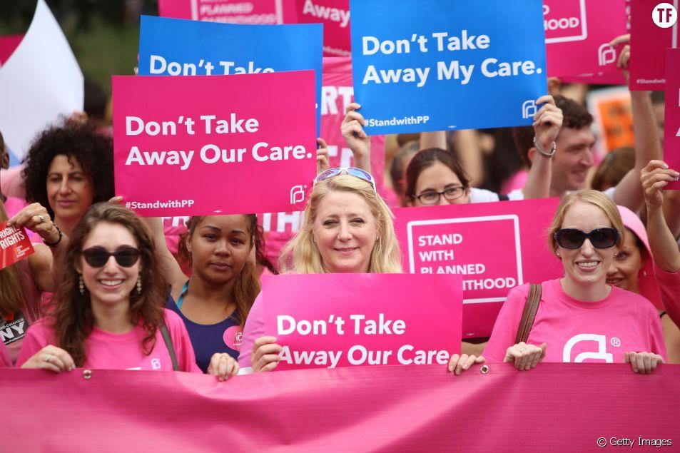 Protestation pour protéger le droit à l'avortement aux Etats-Unis