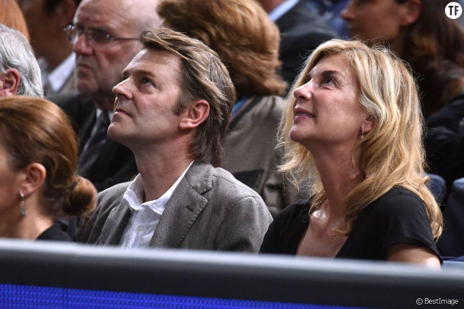 François Baroin et Michèle Laroque au tournoi BNP Paribas Masters 2015 à Paris, le 7 novembre 2015