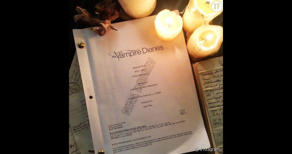 Le scénario de Nina Dobrev pour le series finale de Vampire Diaries saison 8
