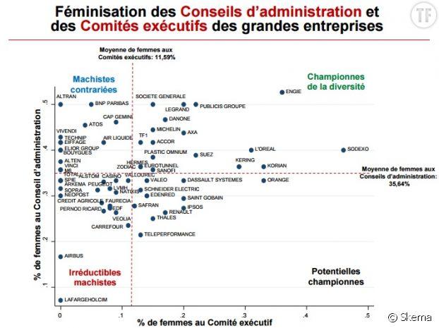 Féminisation des Conseils d'administration et des Comités exécutifs des grandes entreprises